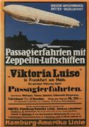 Vintage German poster -  Air transport  with junkers aircraft (1919)